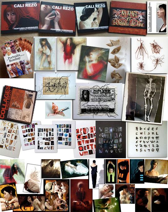 Livres, tirages, dessins, bricolages et autres, dans la boutique de Cali Rezo !