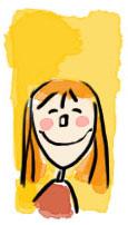 Cali contente joues rouges et sourire