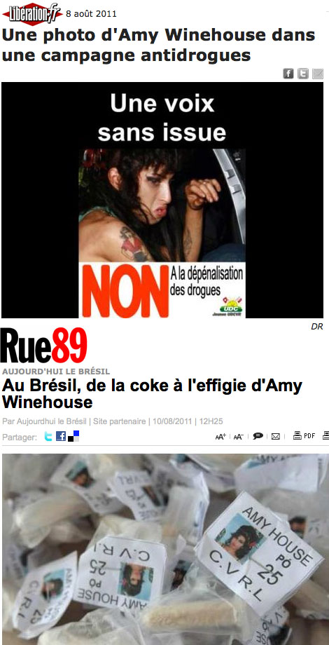 Amy Winehouse - drogue