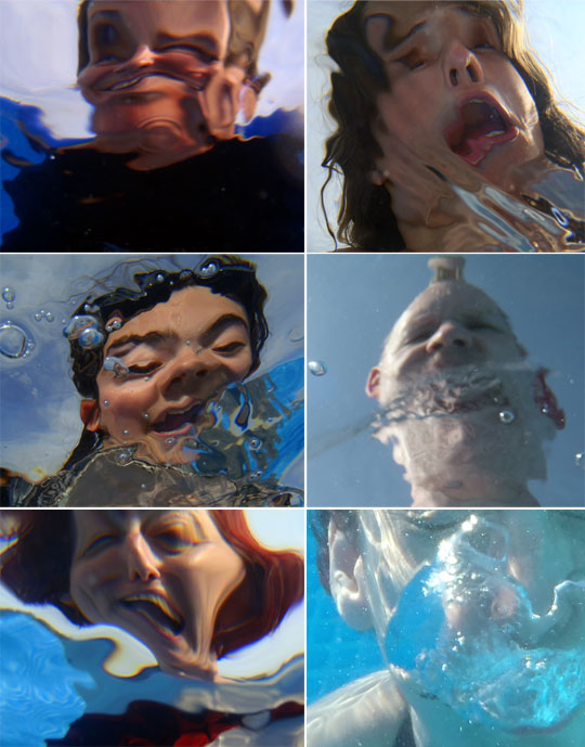 photo - deformed - sous l'eau - déformés