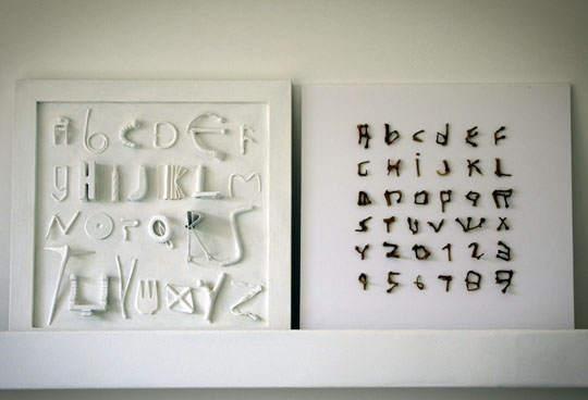 Alphabets en volume
