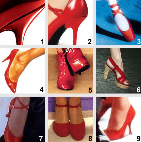 cinema - affiches - chaussures rouges